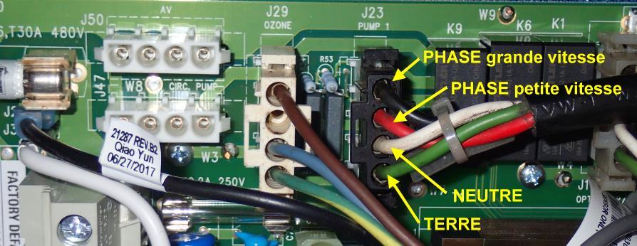 Balboa GS510SZ spa cablage pompe bi-vitesse