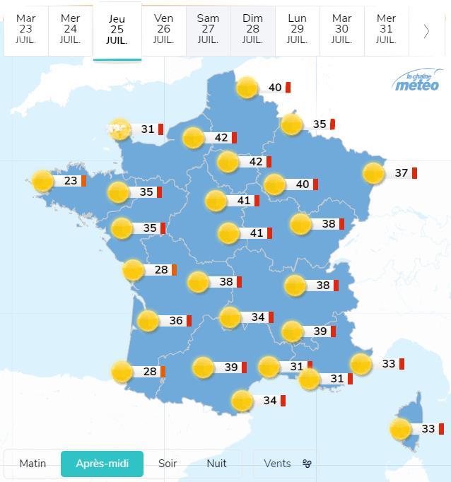 Canicule juillet 2019 France