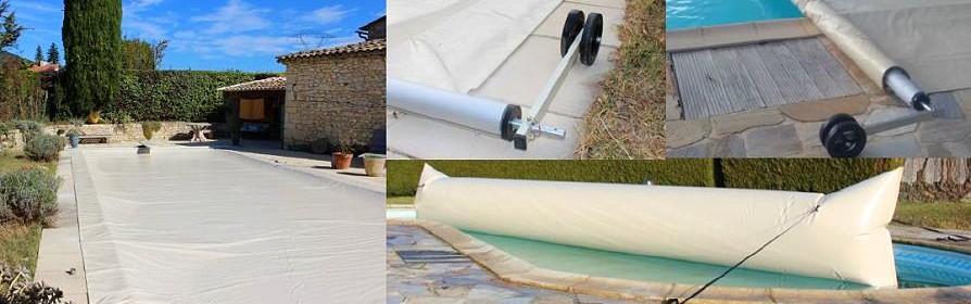Couverture automatique Poolco pour piscine été hiver / 4 saisons