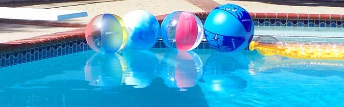 La canicule dans la piscine